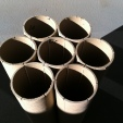 bundled recycled paper tubes