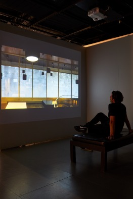 Performing Spatial Labour: Installation View, States of Exception video projection